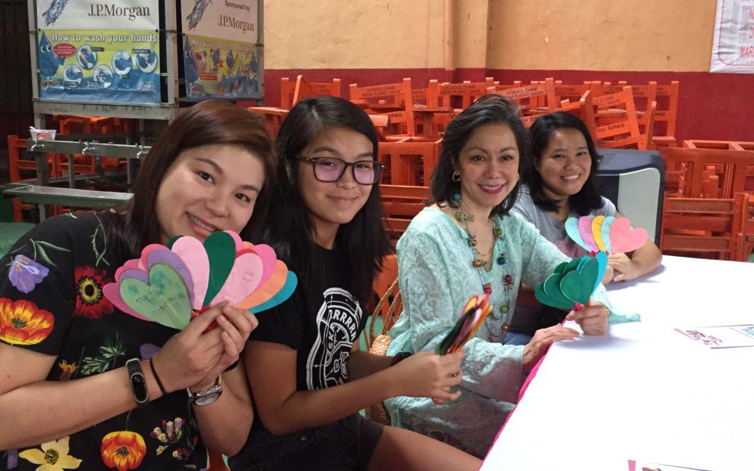 BINHI scholars in Baseco celebrate Valentine's Day